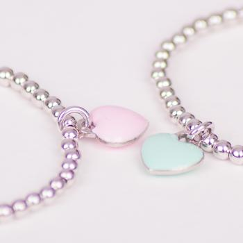 Enamelled Heart Bracelet