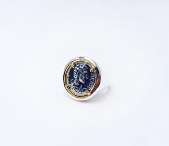 Anello Chevalier Moneta Romana